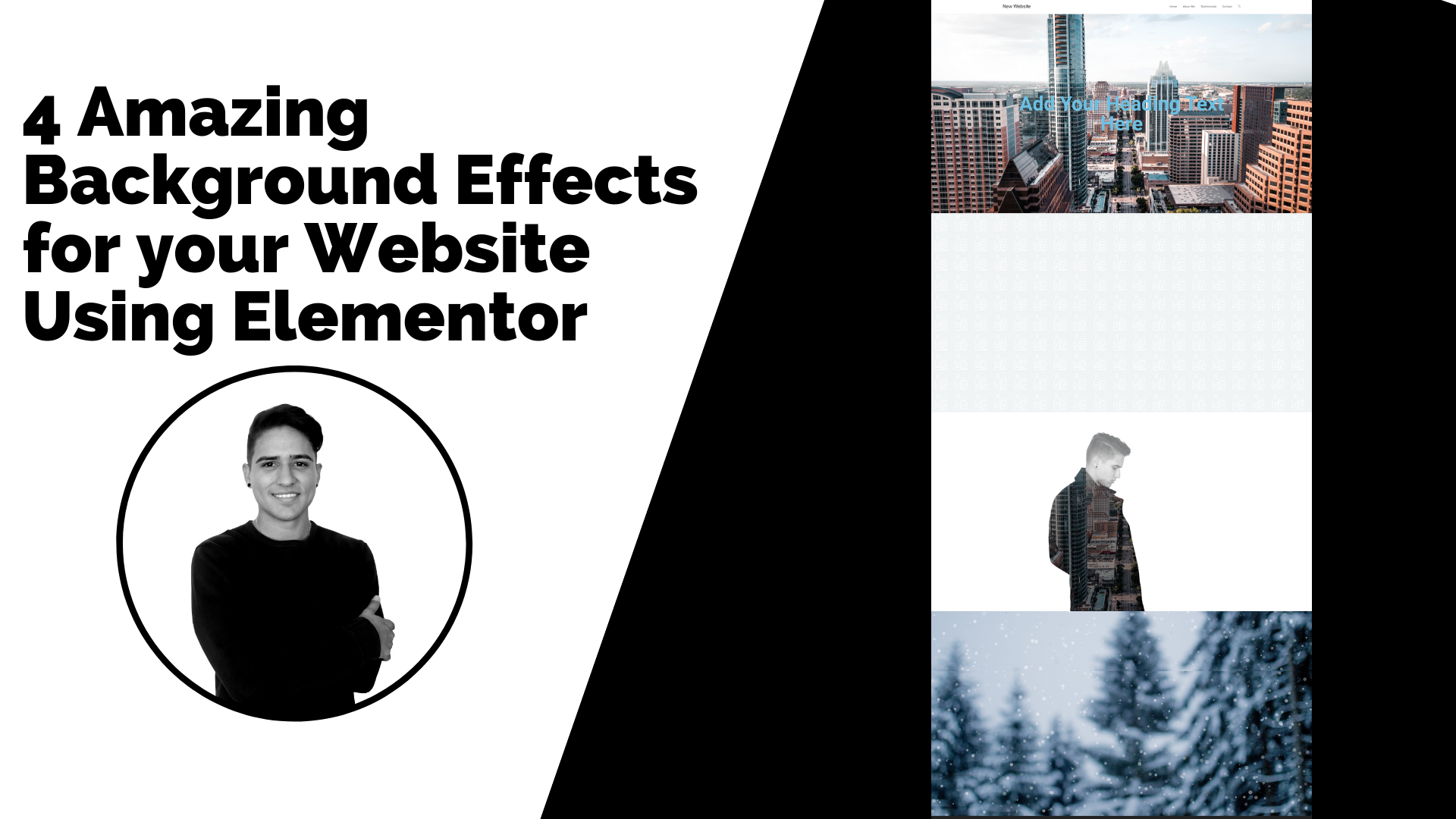 4 Amazing Background Effects For Your Website Using Elementor